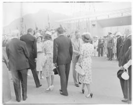 Cape Town, 21 February 1947. Royal family taking leave of dignitaries before boarding the Royal T...
