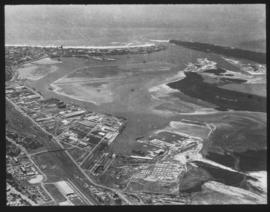 Durban. Aerial view of Durban harbour.