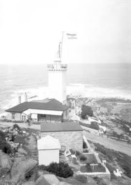 Mossel Bay, 1925. Cape St Blaize lighthouse.