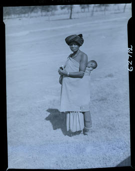 Transkei, 1954. Woman with baby.